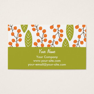 Orange Berries business cards