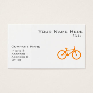 Orange Bicycle Business Card