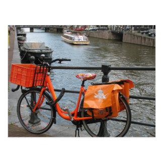 Orange Bicycle Postcard