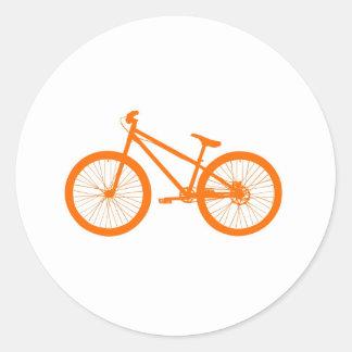 Orange bicycle round sticker