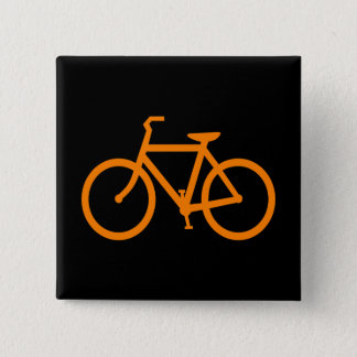 Orange Bike 2 Inch Square Button