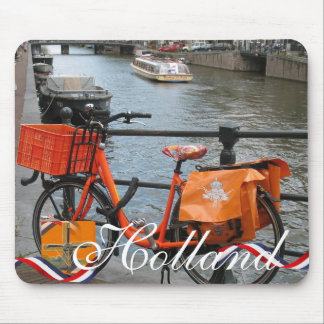 Orange Bike (Oranje Fiets) Holland Text Mousepad