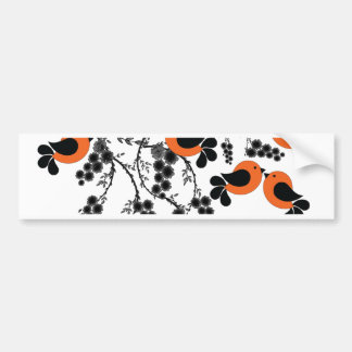 orange birds bumper sticker