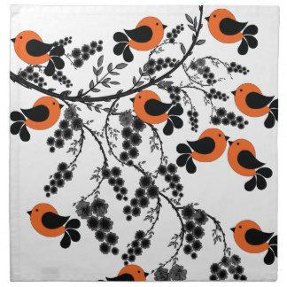 orange birds napkin