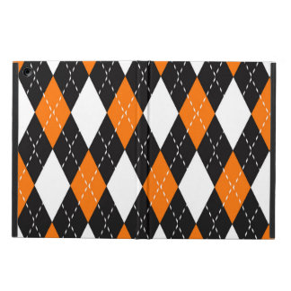 Orange black and white Argyle Pattern Cover For iPad Air