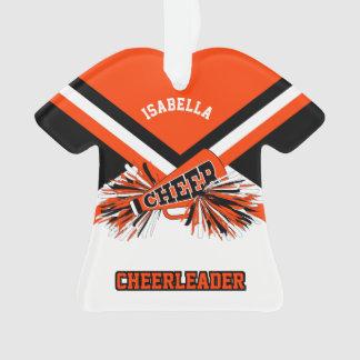Orange, Black and White Cheerleader Ornament