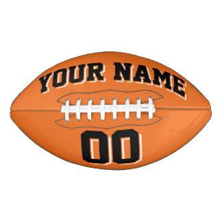 ORANGE BLACK AND WHITE Custom Football
