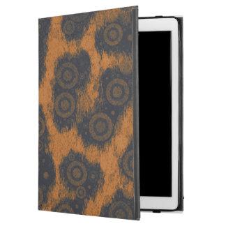 Orange Black Cheetah Abstract