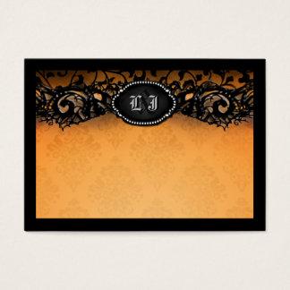 Orange Black Elegant Halloween BLANK Place Cards