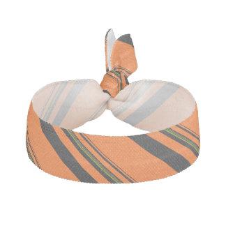 Orange Black Green Striped Pattern Hair Tie