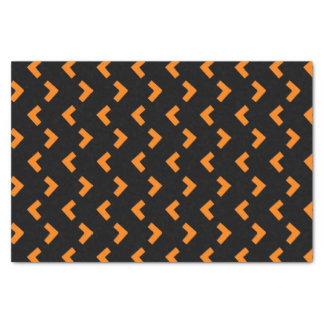 Orange Black pattern tissue paper
