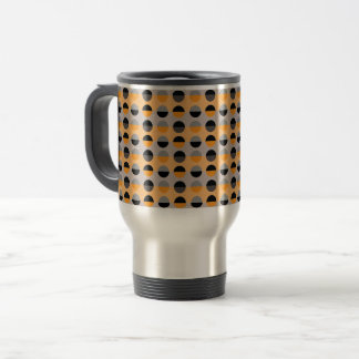 Orange Black Polka Dots Modern Retro Attractive Travel Mug