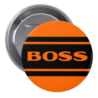 Orange Black Race Stripe Muscle Car Boss Button Button