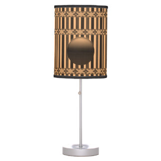 orange black stripped decoratice lamp shade