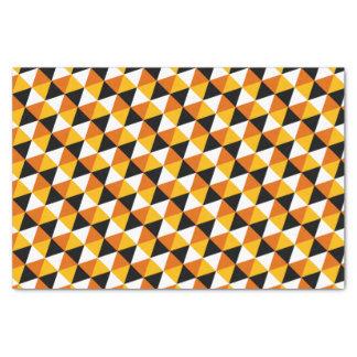 Orange & Black Triangle Pattern Tissue Paper