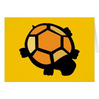 Orange & Black Turtle Card