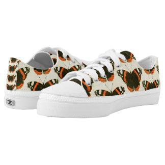 Orange Black & White Butterflies Art LowTop Shoes