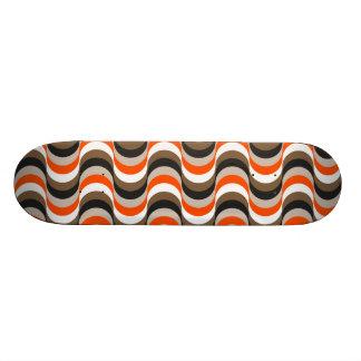 Orange, blanc, art abstrait de rétros années '50 d plateaux de skate