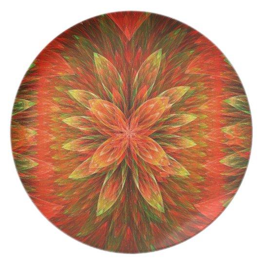 Orange Blooms Delight  Melamine Plate