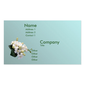Orange Blossom Double-Sided Standard Business Cards (Pack Of 100)