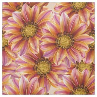 Orange Blossom Custom Fabric