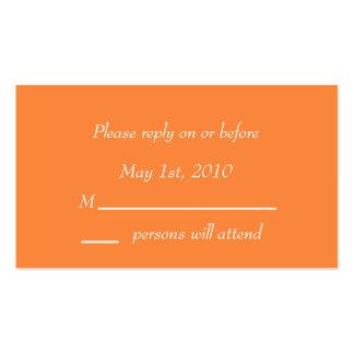 Orange Blossom Enclosure Card Business Card