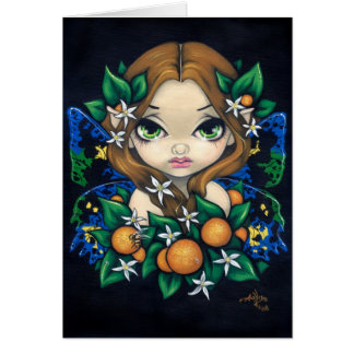 """Orange Blossom Fairy"" Greeting Card"
