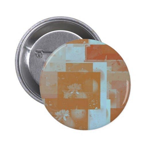 orange blossom fantasy original art button