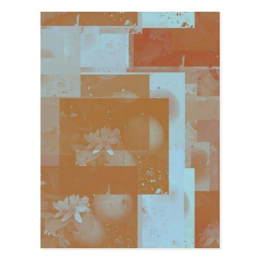 orange blossom fantasy original art post cards