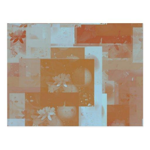 orange blossom fantasy original art post card