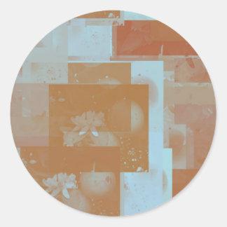 orange blossom fantasy original art round sticker