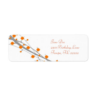 Orange Blossom Return Address Label
