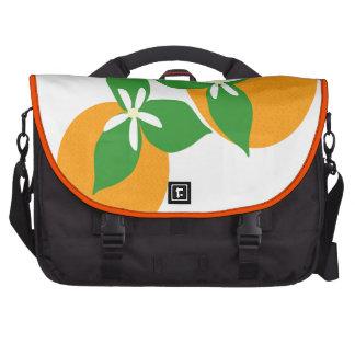 Orange Blossom Laptop Commuter Bag