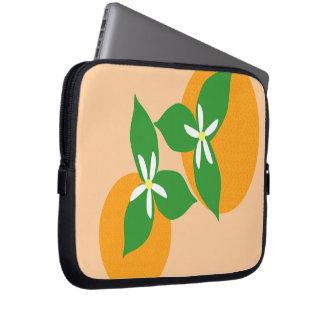 Orange Blossom Laptop Sleeves