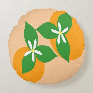 Orange Blossom Round Pillow