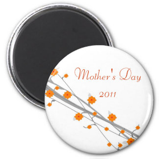 Orange Blossom-mothers day 2 Inch Round Magnet