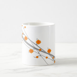 Orange Blossom Basic White Mug