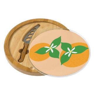 Orange Blossom Rectangular Cheeseboard
