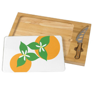 Orange Blossom Round Cheeseboard