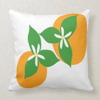 Orange Blossom Throw Pillows