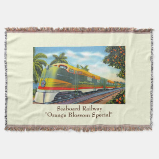 """Orange Blossom Special"" Throw Blanket"