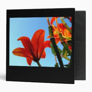 Orange Blossom Vinyl Binder