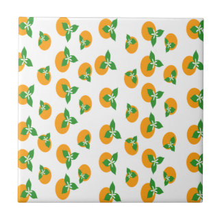 Orange Blossoms Ceramic Tiles