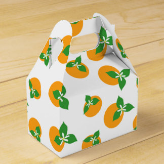 Orange Blossoms Party Favor Boxes