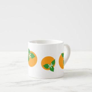 Orange Blossoms 6 Oz Ceramic Espresso Cup
