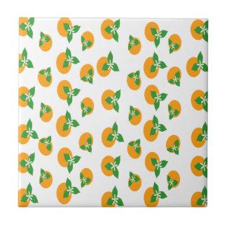 Orange Blossoms Ceramic Tiles