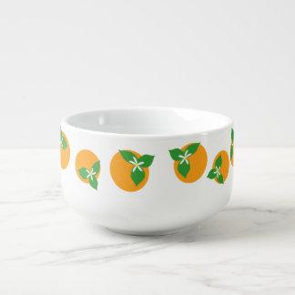 Orange Blossoms Soup Mug