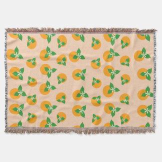 Orange Blossoms Throw Blanket