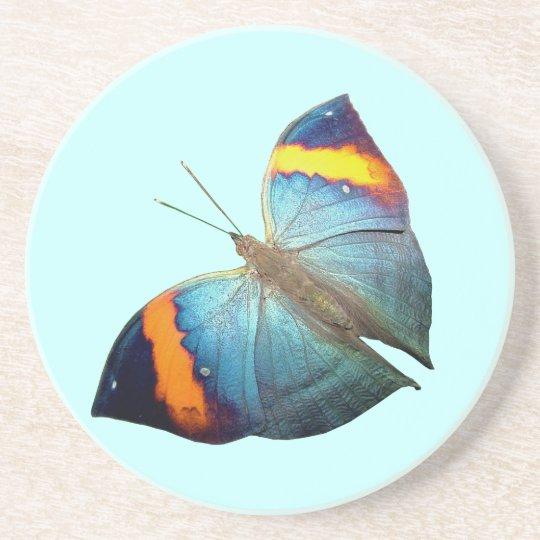 Orange & Blue Butterfly Coaster