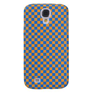 Orange & Blue Checkerboard